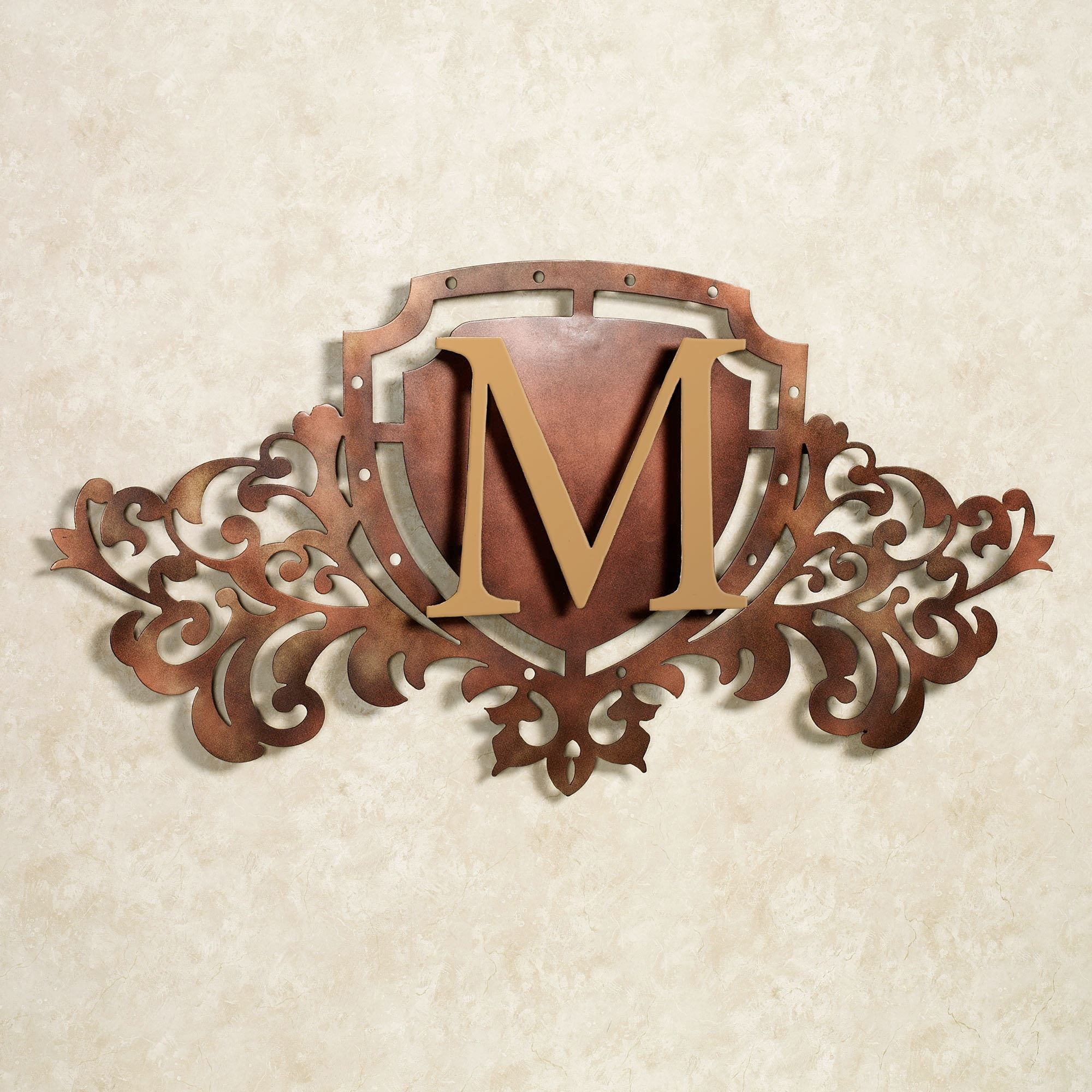 Generations Monogram Crest Metal Wall Art Sign