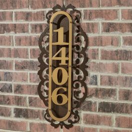 LaRoyal House Number Address Plaque
