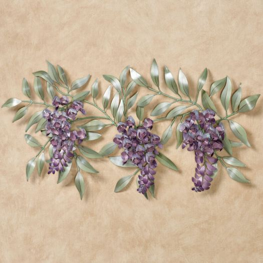 Wisteria Branch Metal Wall Sculpture