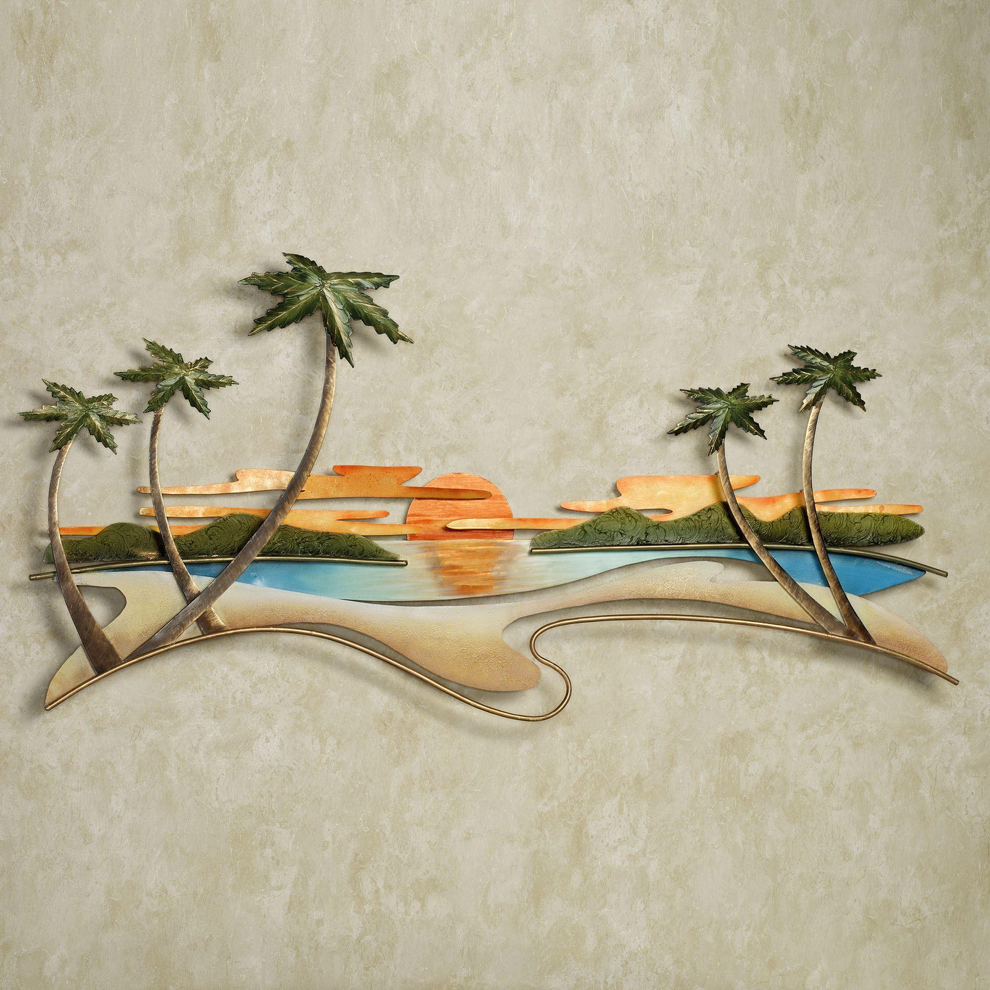 Caribbean Sunset Metal Wall Sculpture