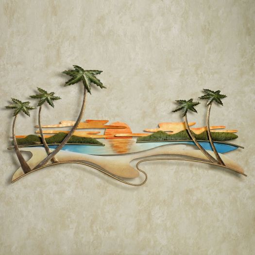 Caribbean Sunset Metal Wall Sculpture