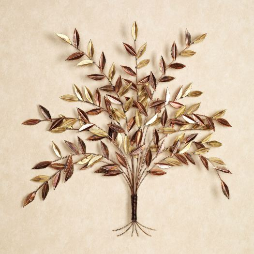 Autumn Elm Tree Metal Wall Sculpture