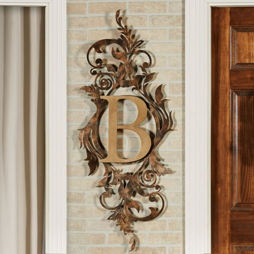 Meglynn Monogram Metal Wall Art Sign