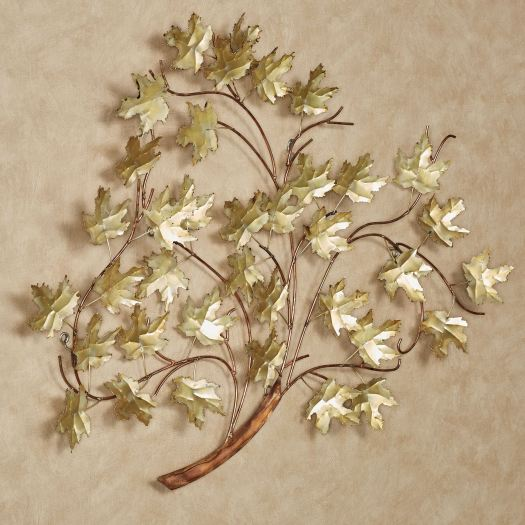 Golden Harmony Tree Metal Wall Sculpture