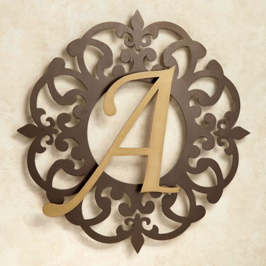 Heritage Monogram Metal Wall Art Sign