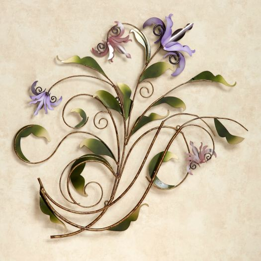 Floria Pastel Flower Metal Wall Sculpture