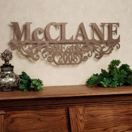 Kinship Personalized Metal Wall Art Sign