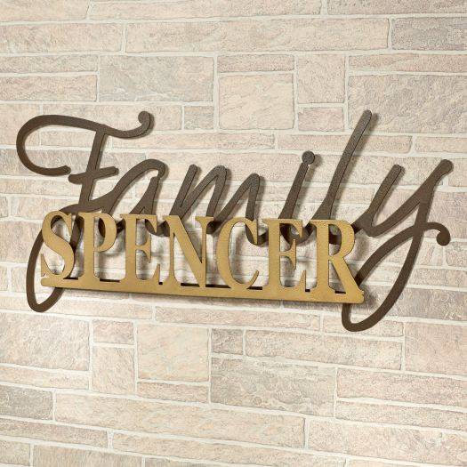 Signature Personalized Metal Wall Art Sign