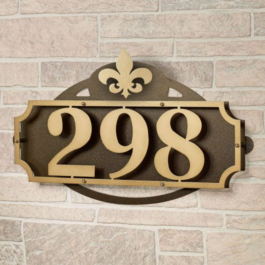 La Casa Fleur de Lis House Number Wall Address Sign