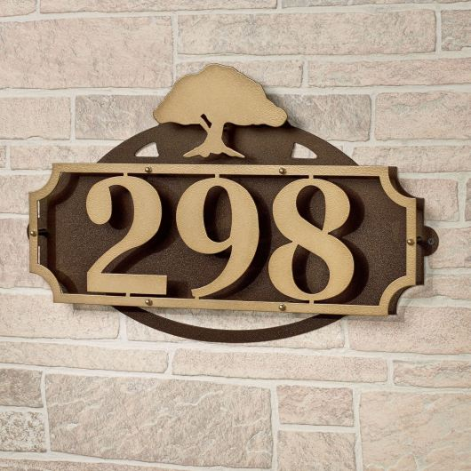 La Casa Tree House Number Wall Address Sign