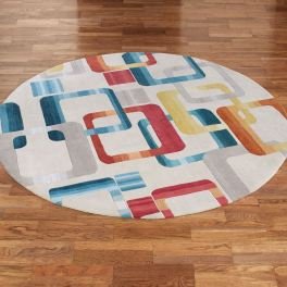 Retro Modo Abstract Area Rugs
