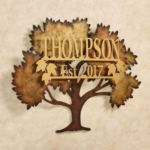 Family Tree Personalized Metal Wall Art