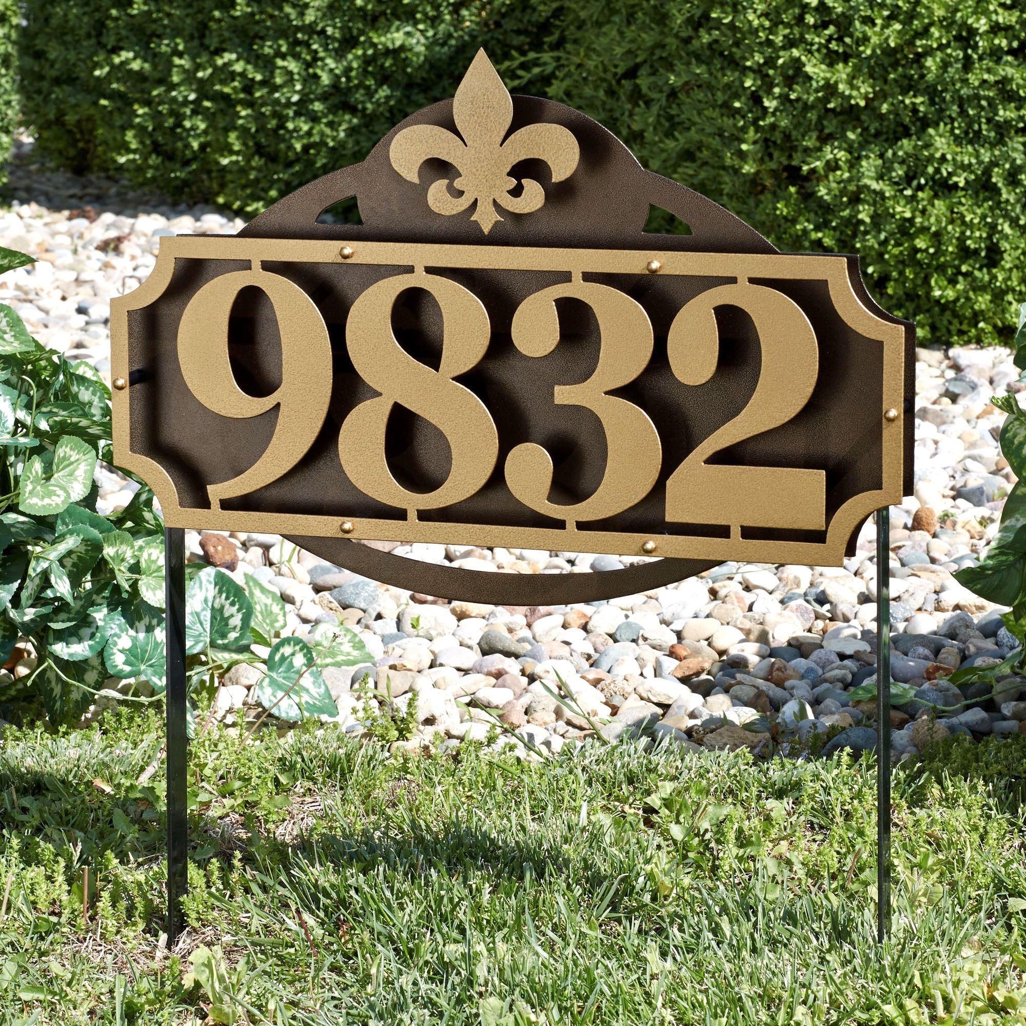 La Casa House Number Address Sign Yard Stake