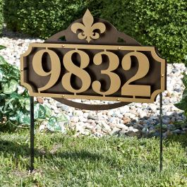 La Casa House Number Address Sign Yard Stake