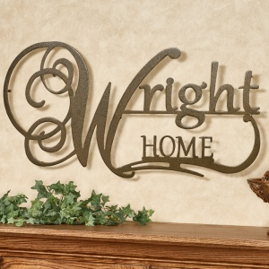 Affinity Personalized Metal Wall Art Sign with Home