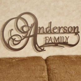 Affinity Personalized Metal Wall Art Sign with Family