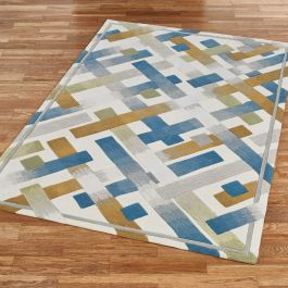 Urban Intersection Abstract Area Rugs