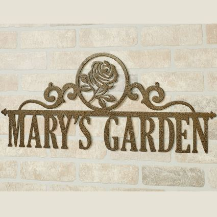 Occasions Rose Personalized Metal Wall Art Sign