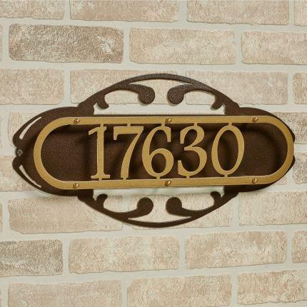 Paris House Number Address Wall Plaque