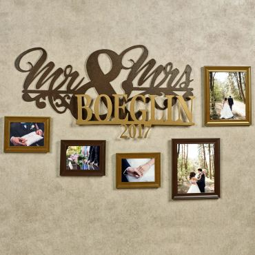 Mr and Mrs Established Year Personalized Wall Art
