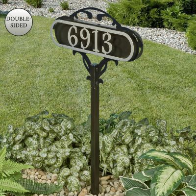 Paris House Number Address Sign Yard Stake
