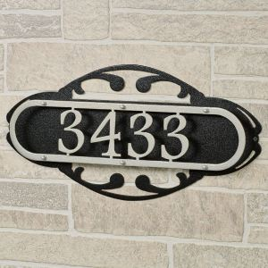 Paris House Number Address Wall Plaque