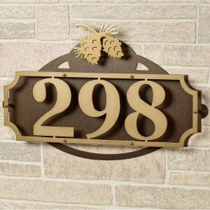 La Casa Pine Cone House Number Address Wall Sign