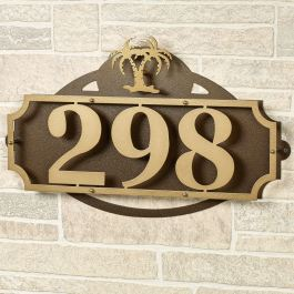 La Casa Palm Tree House Number Address Wall Sign