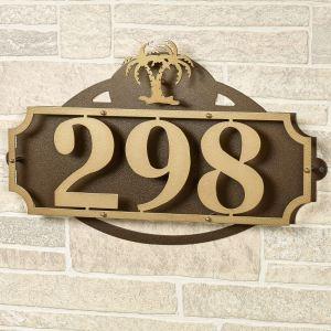La Casa Palm Tree House Number Address Wall Sign