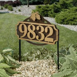 La Casa Pine Cone House Number Address Yard Stake