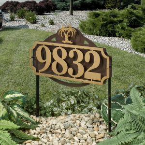 La Casa Palm Tree House Number Address Yard Stake