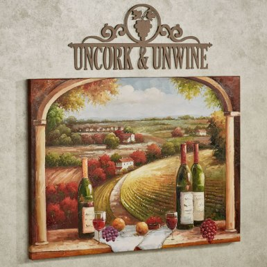 Uncork and Unwine Metal Wall Art Sign