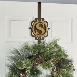 Overture Monogram Wreath Hanger in Gold/Bronze