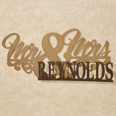 Mr. and Mrs. II Marriage Personalized Metal Wall Art Sign