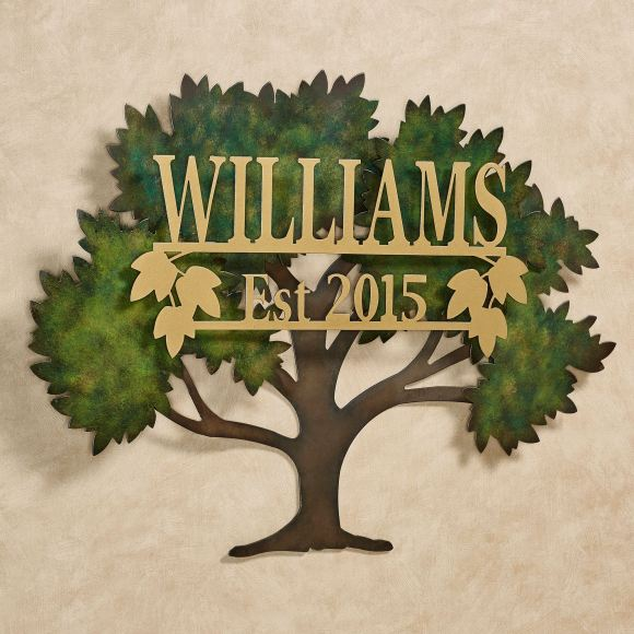 Personalized Family Tree Metal Wall Art Sign