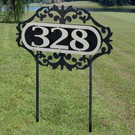 LaRoyal House Number Address Sign Yard Stake