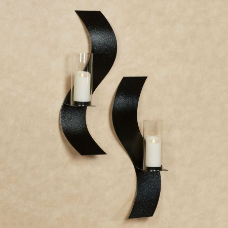Rhythmic Wall Sconce Set in Black