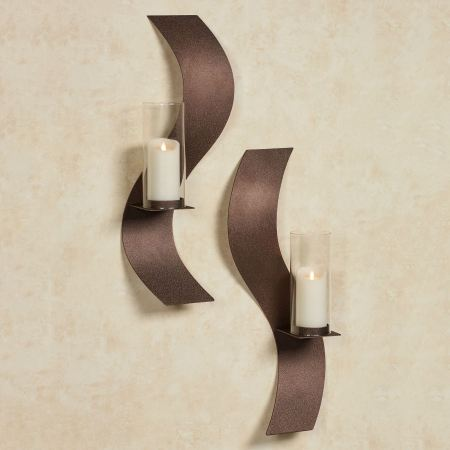 Rhythmic Wall Sconce Set in Rich Bronze