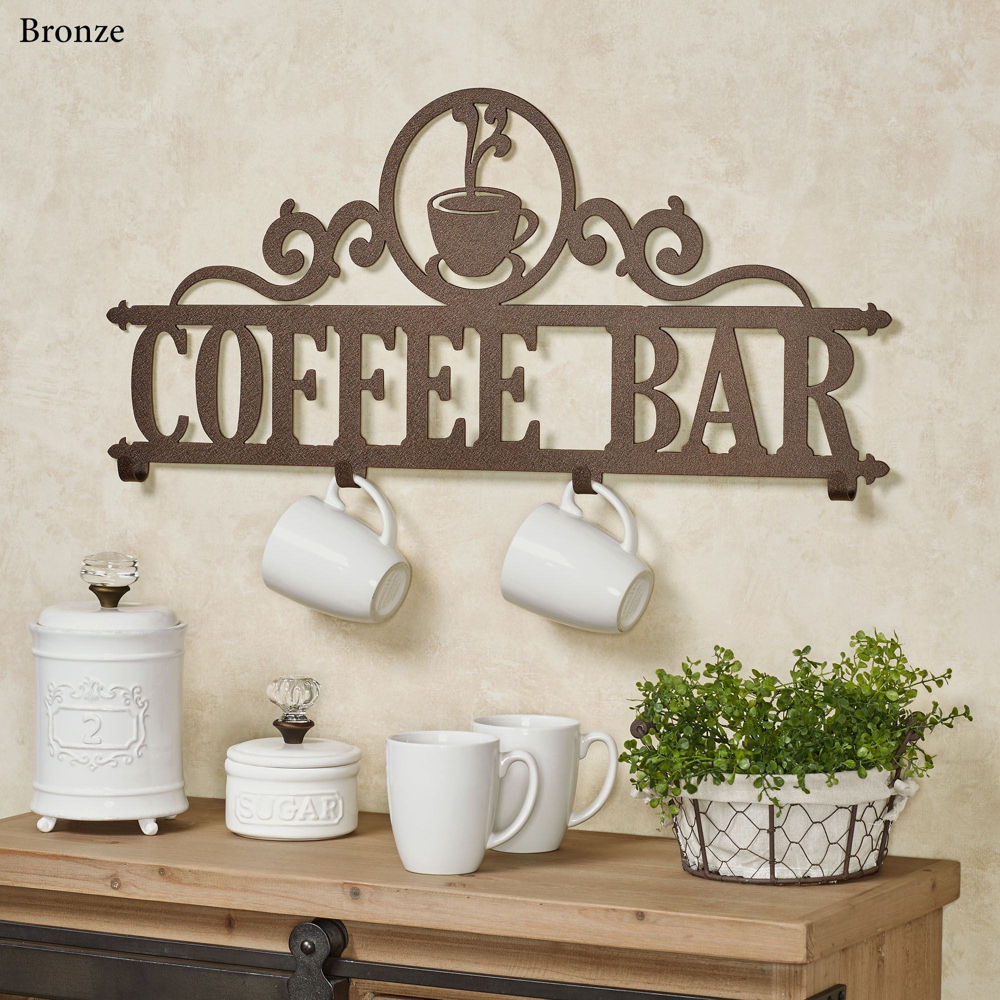 New Occasions Personalized Metal Wall Hook Rack Touch