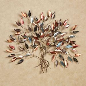 Brilliance Leafy Branch Metal Wall Sculpture