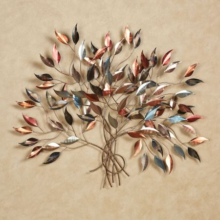 Brilliance Leafy Branch Metal Wall Sculpture
