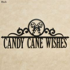 Occasions Candy Cane Holiday Personalized Metal Wall Art Sign
