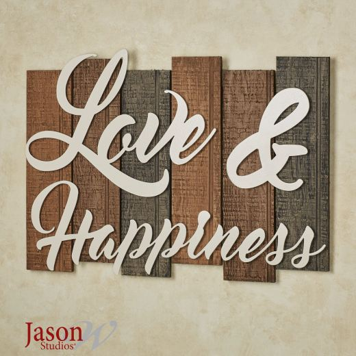 Sentiments Love and Happiness Wall Plaque Sign