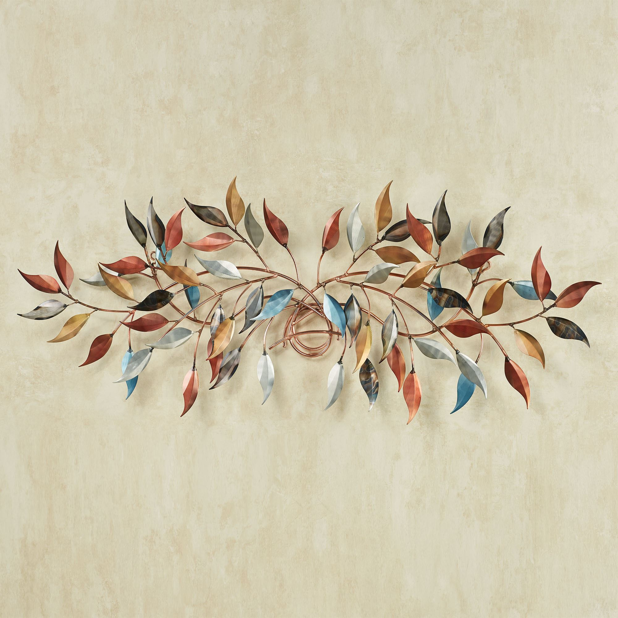 Brilliance Leafy Branch Metal Wall Topper