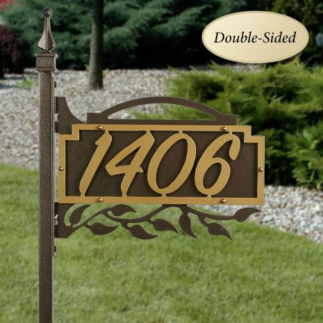 Shepherd Ivy Yard Address Number Sign Stake