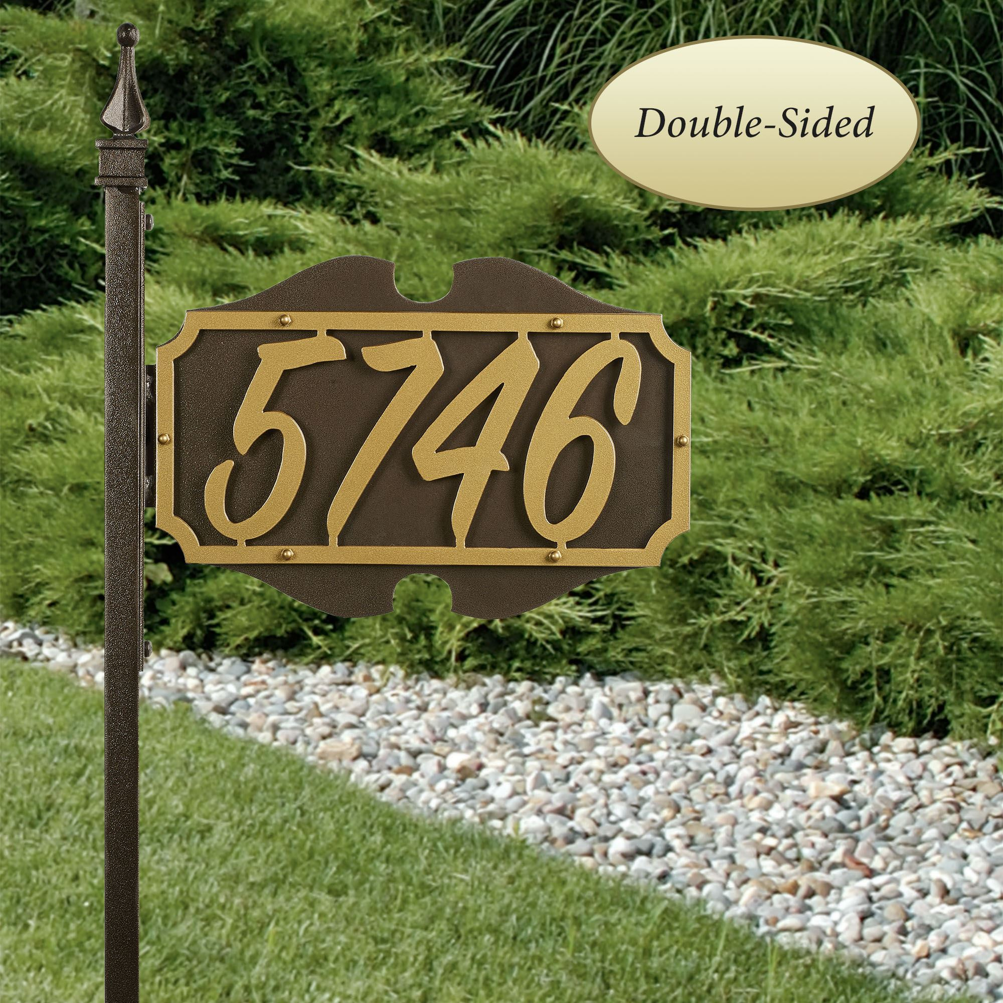 Shepherd Monument Yard Address Number Sign Stake
