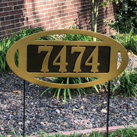 Fairway Classic Yard Address Number Sign Stake