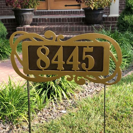 Fairway Victoria Yard Address Number Sign Stake