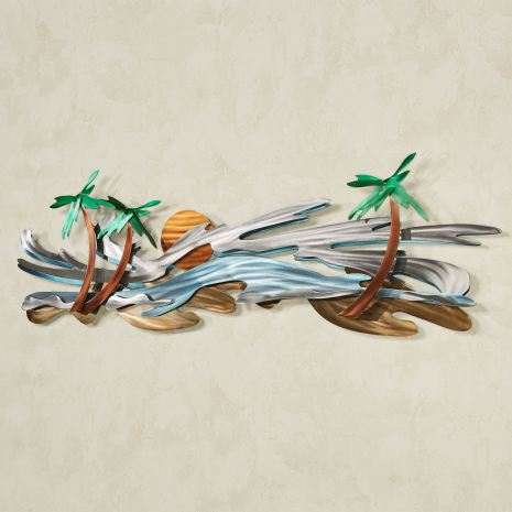 Seaside Tropics Metal Wall Sculpture