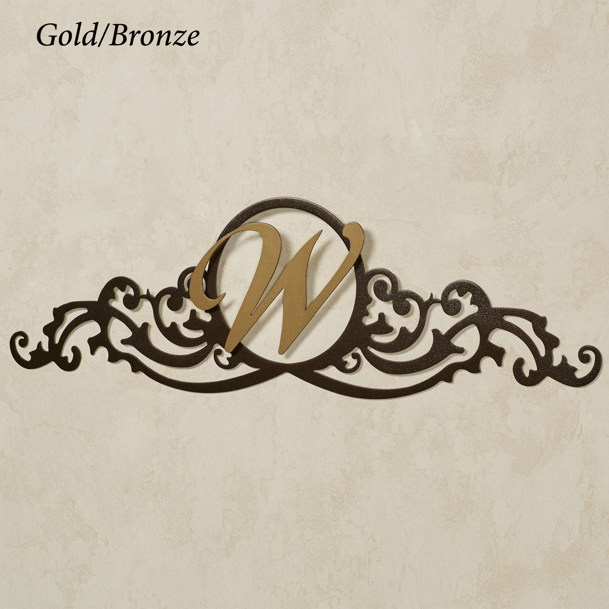 Kindred Personalized Monogram Wall Topper in Bronze